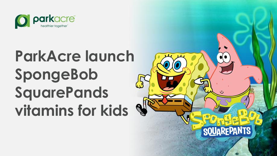 ParkAcre launch SpongeBob SquarePants Vitamins for kids